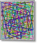 Sudoku Connections White Weave Metal Print