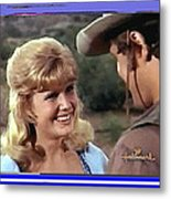 Sue Green Mark Slade The High Chaparral 1966 Pilot Screen Capture Collage 1966-2012 Metal Print