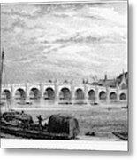 Suez Canal, 1894 Metal Print