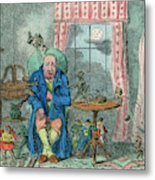 Sufferer Of Indigestion          Date Metal Print