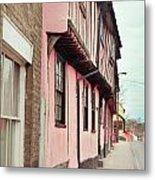 Suffolk Town Houses Metal Print
