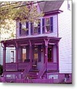 Sugar Plum Purple Victorian Home Metal Print