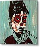 Sugar Skull Audrey Metal Print