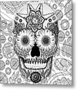 Sugar Skull Bleached Bones - Copyrighted Metal Print by Christopher Beikmann