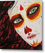 Sugar Skull Metal Print by Kip Krause