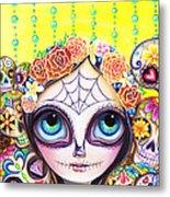 Sugar Skull Princess Metal Print