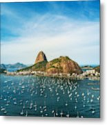 Sugarloaf Mountain In Rio De Janeiro, Brazil Metal Print