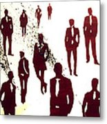 Suit And Die Metal Print
