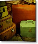 Suitcases In The Attic Metal Print