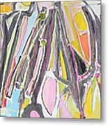 Suits Coats And Ties Hangin In The Closet Metal Print