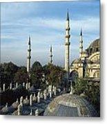 Suleymanhe Mosque, The Bizaar Quarter Metal Print