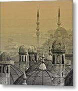 Suleymaniye Mosque And New Mosque In Istanbul Metal Print