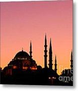 Suleymaniye Sundown 01 Metal Print by Rick Piper Photography
