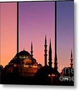 Suleymaniye Sundown Triptych 02 Metal Print