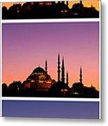 Suleymaniye Sundown Triptych 03 Metal Print