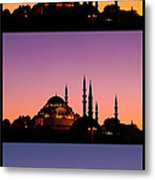 Suleymaniye Sundown Triptych 04 Metal Print by Rick Piper Photography