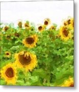 Sultry Sunflowers Metal Print