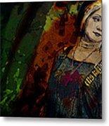 Sum Angle Gothic Portrait Metal Print