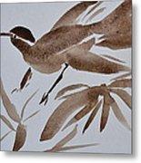 Sumi Bird Metal Print