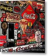 Sumi-e Styled Coca Cola Signs Metal Print