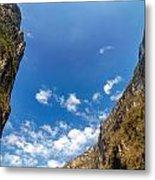 Sumidero Canyon Sky Metal Print