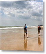 Summer A Beach In The Hamptons Metal Print