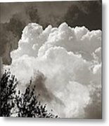 Summer Afternoon Cloudscape Metal Print