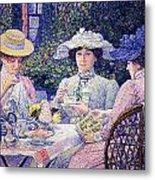 Summer Afternoon Tea In The Garden-1901 Metal Print