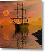 Summer Anchorage Metal Print by Claude McCoy