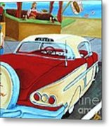 Cruising The Beach Metal Print