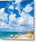 Summer Beach Algarve Portugal Metal Print