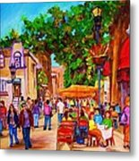Summer Cafes Metal Print