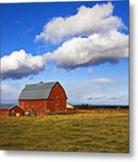 Summer Clouds Over Farm Country I Metal Print