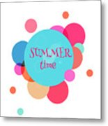 Summer Colorful Background With Text - Metal Print