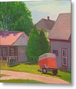 Summer Cottages Maine Metal Print