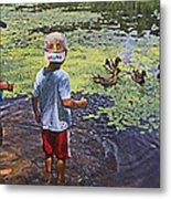 Summer Day At The Pond Metal Print