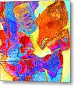 Summer Eucalypt Abstract 28  Metal Print