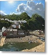 Summer Evening Clovelly North Devon Metal Print