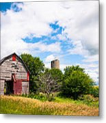 Summer Farm Metal Print