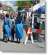 Summer Festival In Berne Indiana II Metal Print