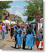 Summer Festival In Berne Indiana Metal Print by Suzanne Gaff