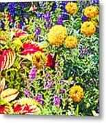 Summer Flower Garden Poster Print Metal Print
