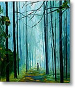 Summer Forest - Palette Knife Oil Painting On Canvas By Leonid Afremov Metal Print