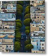Summer Green On Lombard Street Metal Print