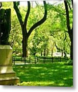 Summer In Central Park Manhattan Metal Print