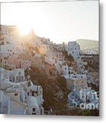 Summer In Santorini Metal Print