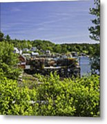 Summer In South Bristol On The Coast Of Maine Metal Print