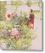 Summer In Sundborn Metal Print by Carl Larsson
