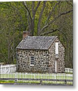 Summer Kitchen In Spring - Colonial Stone Metal Print
