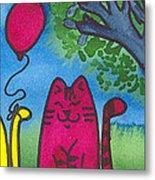 Summer Kittens Metal Print